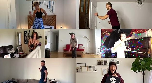 "The Umbrella Academy cast danced along to Tiffany's ""I Think We're Alone Now"" to announce that the show's second season is dropping July 31. (Screen capture via YouTube)"