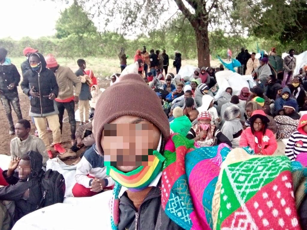 Using backpacks as pillows, countless queer refugees from the Kakuma refugee camp dotted the grounds of UNHCR for a peaceful protest. One held amid the country's lockdown measures. (Facebook)