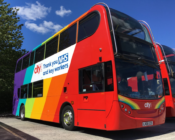 Bus company apologises after rebranding a Pride bus into an NHS bus