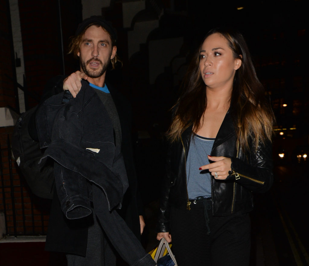 Seann Walsh And Katya Jones Seen Leaving A Dance Studio In Mayfair