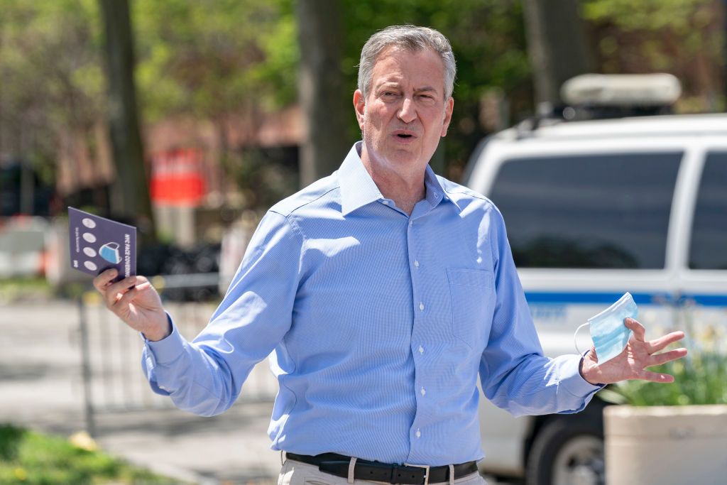 New York City Mayor Bill de Blasio has called for people to donate blood - but even eligible gay and bisexual men are still being prevented from doing so