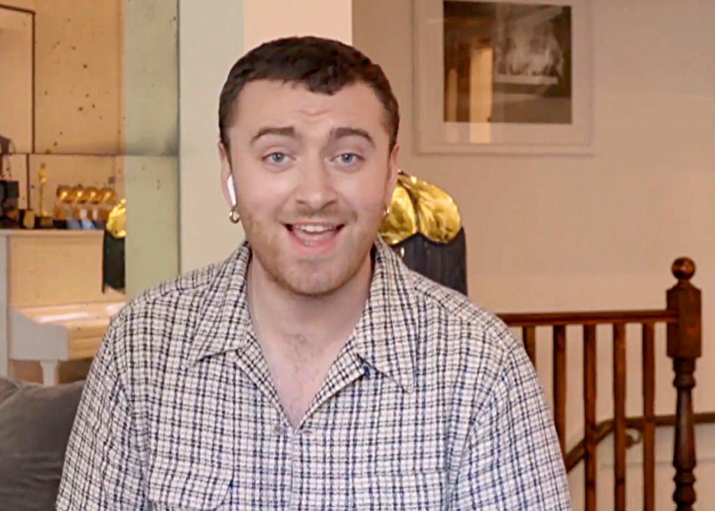 Sam Smith performs during One World: Together At Home