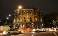The Royal Vauxhall Tavern, cars running by it