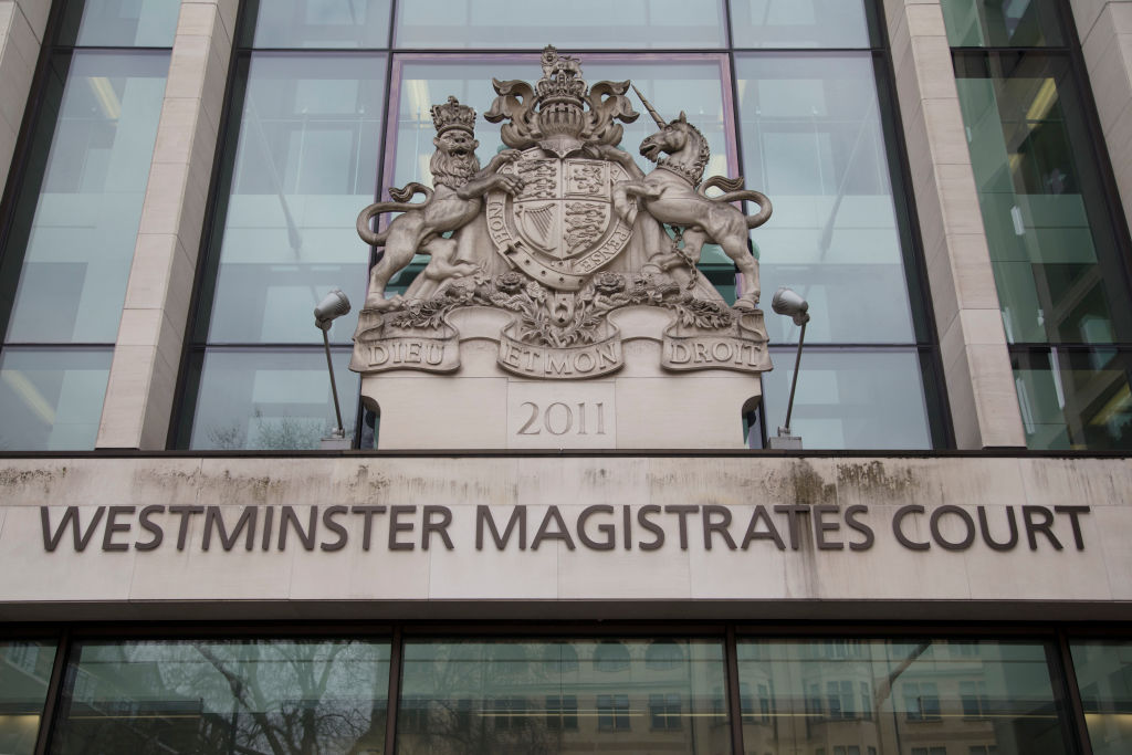 Westminster Magistrates Court in London, England, United Kingdom. (