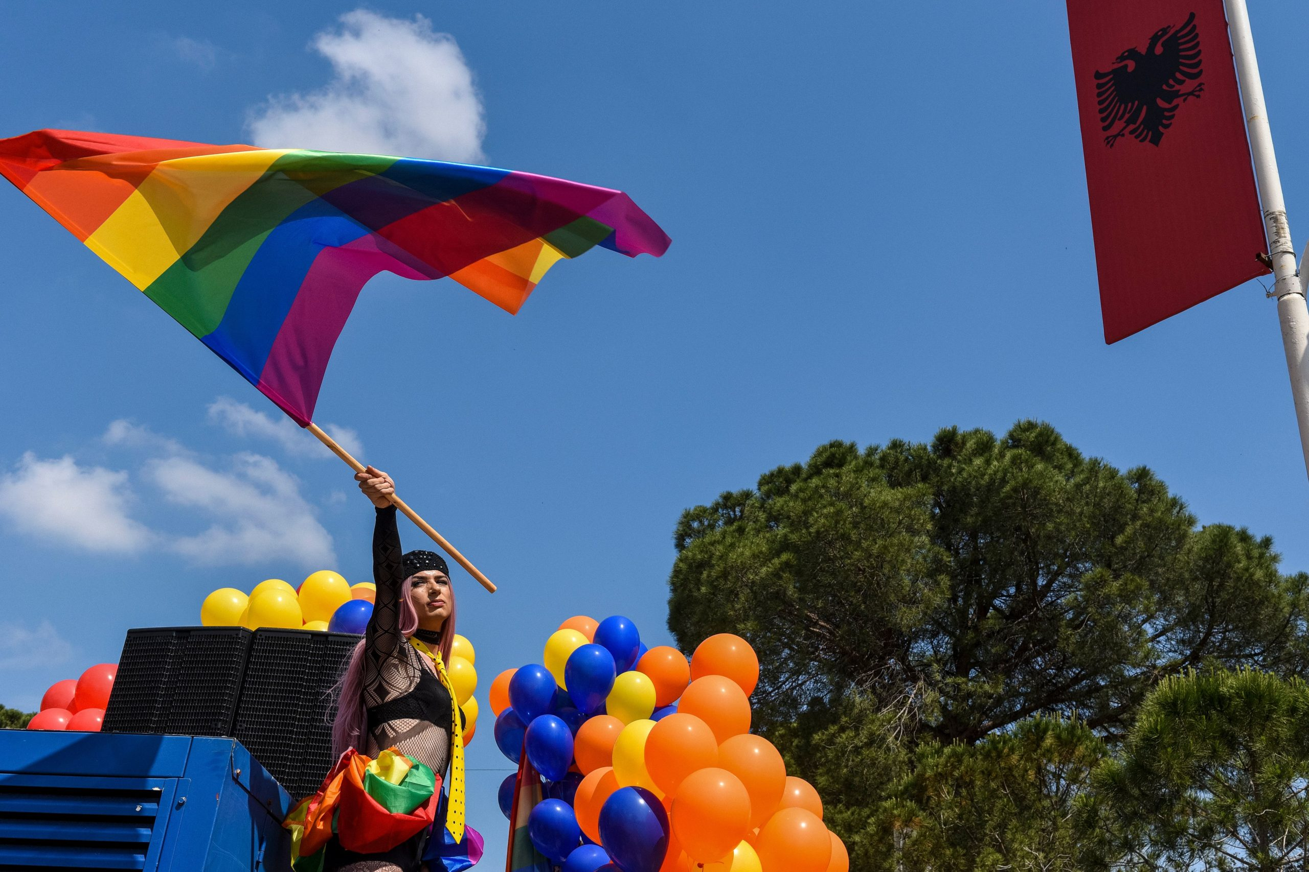 The leading governing body for psychologists in Albania have banned conversion therapy. (GENT SHKULLAKU/AFP via Getty Images)