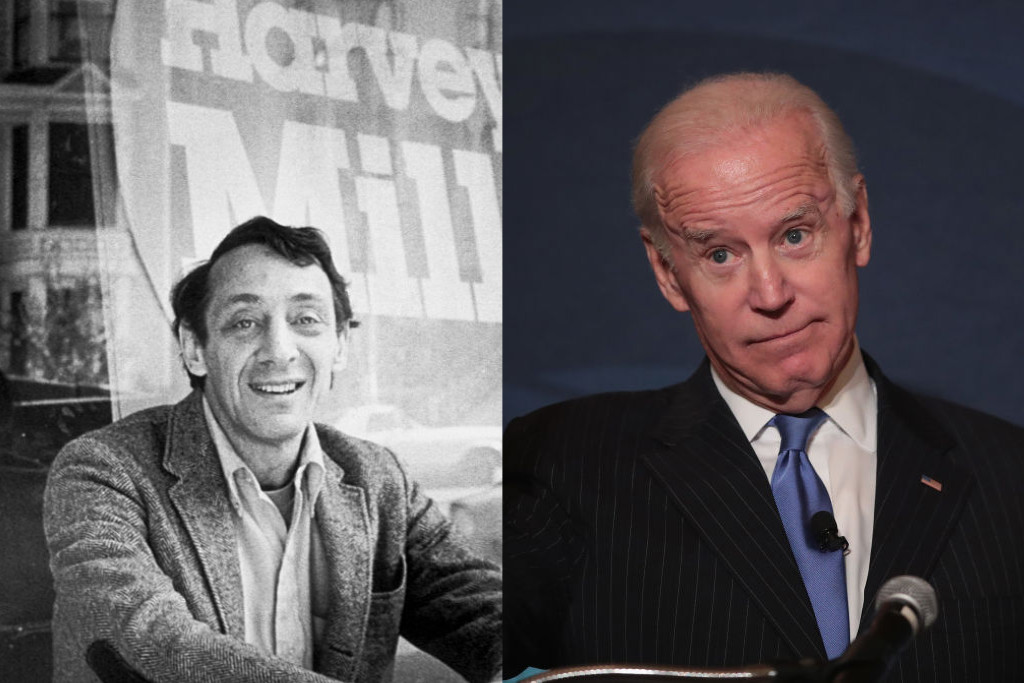 Harvey Milk Joe Biden Stuart Milk