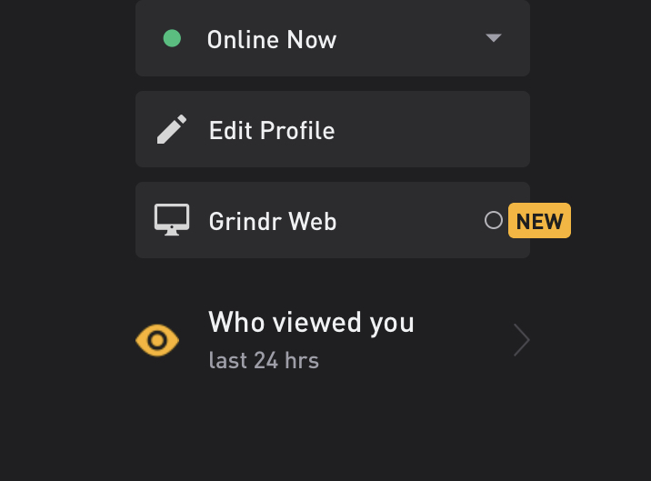 Users can access Grindr web under settings in the mobile app. (Grindr)