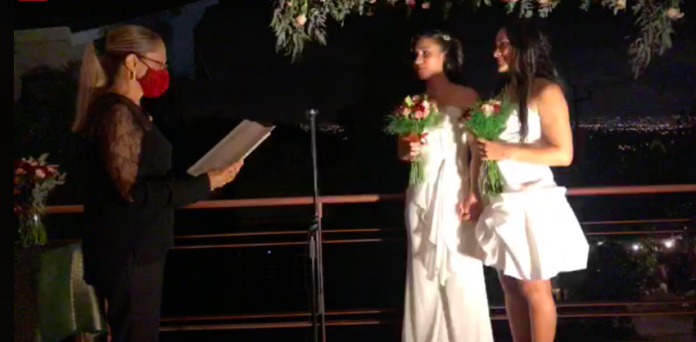 Lesbians make history as first same-sex couple to marry in Costa Rica with emotionally-charged ceremony on live TV