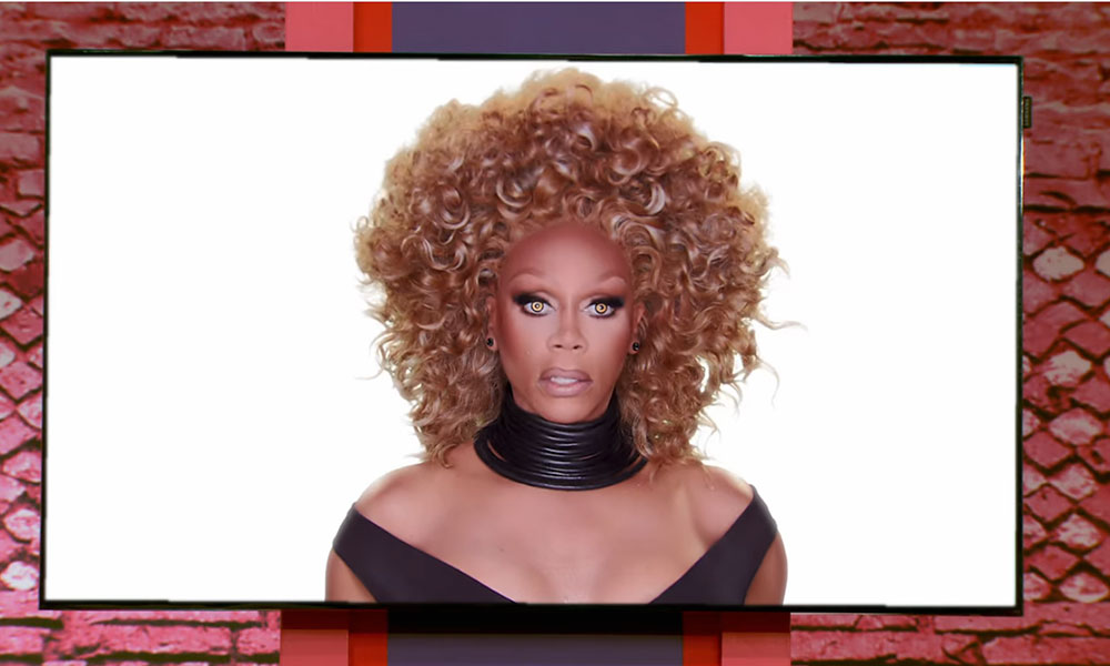 RuPaul on the RuMail screen