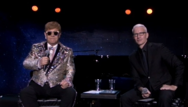 Sir Elton John called Anderson Cooper to congratulate him