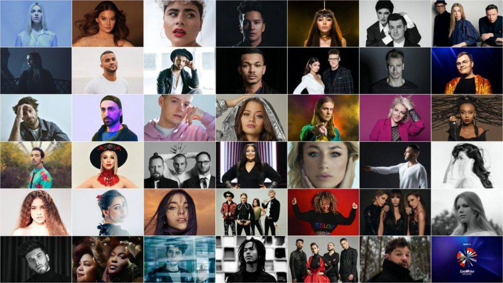 The 41 contestants who would have taken part in Eurovision 2020.
