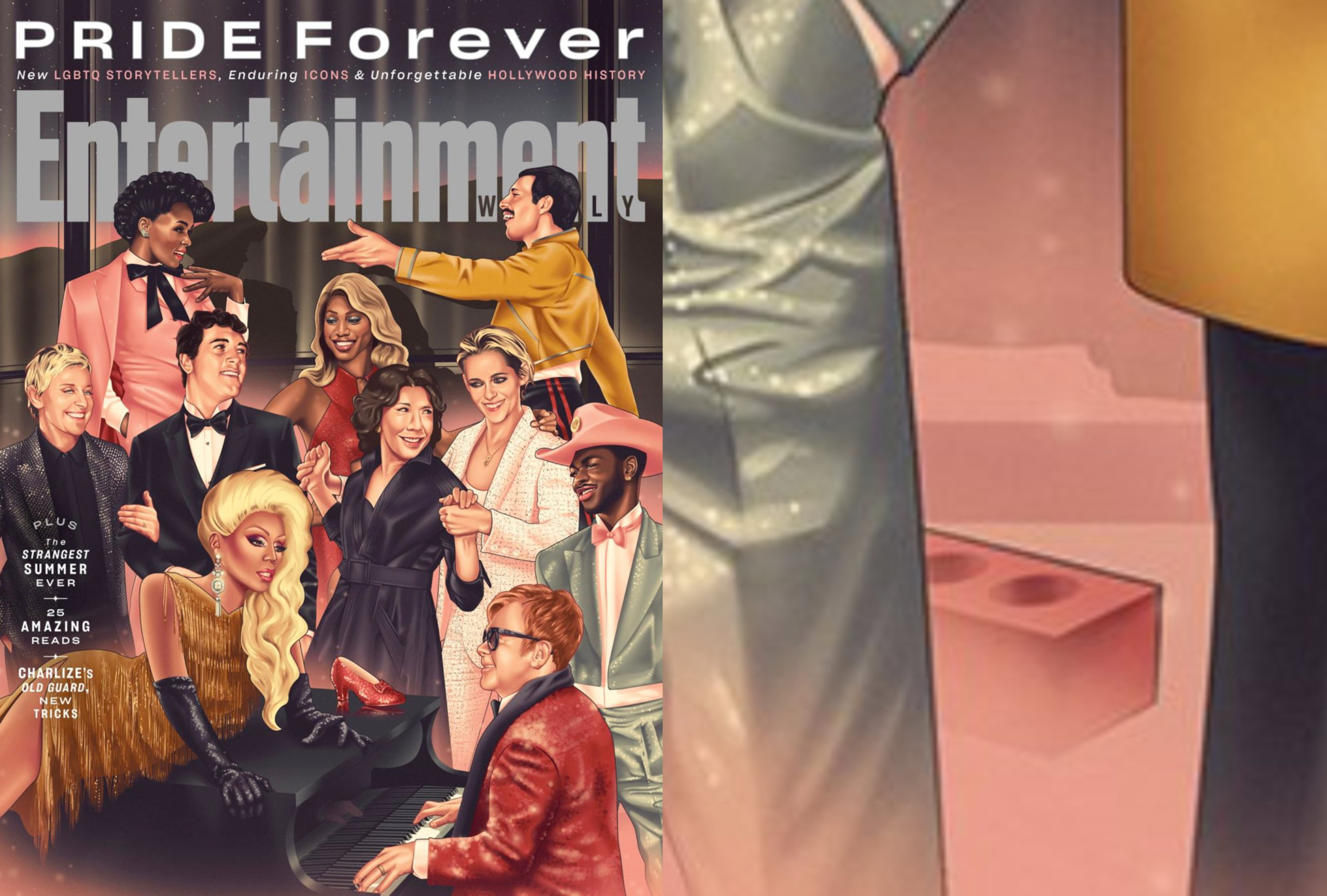 Entertainment Weekly put the 'first brick thrown at Stonewall' on its Pride cover and people have thoughts – lots of thoughts