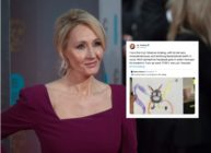 "JK Rowling suffered criticism for ""accidentally pasting"" a comment on a trans woman in a tweet. (John Phillips/Getty Images/Twitter)"