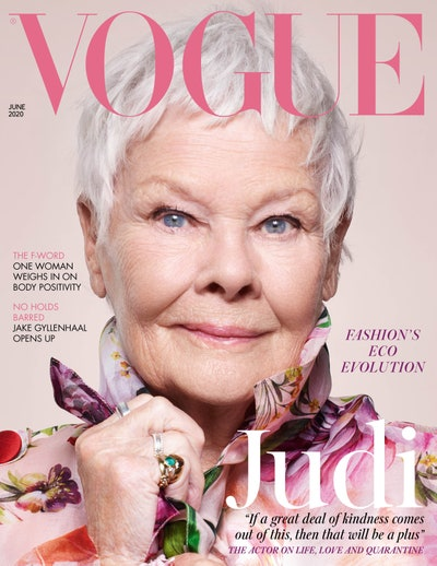 Dame Judi Dench appears on the cover of Vogue