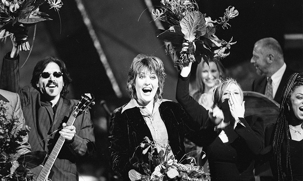 Katrina and the Waves winning the Eurovision Song Contest 1997 in Dublin