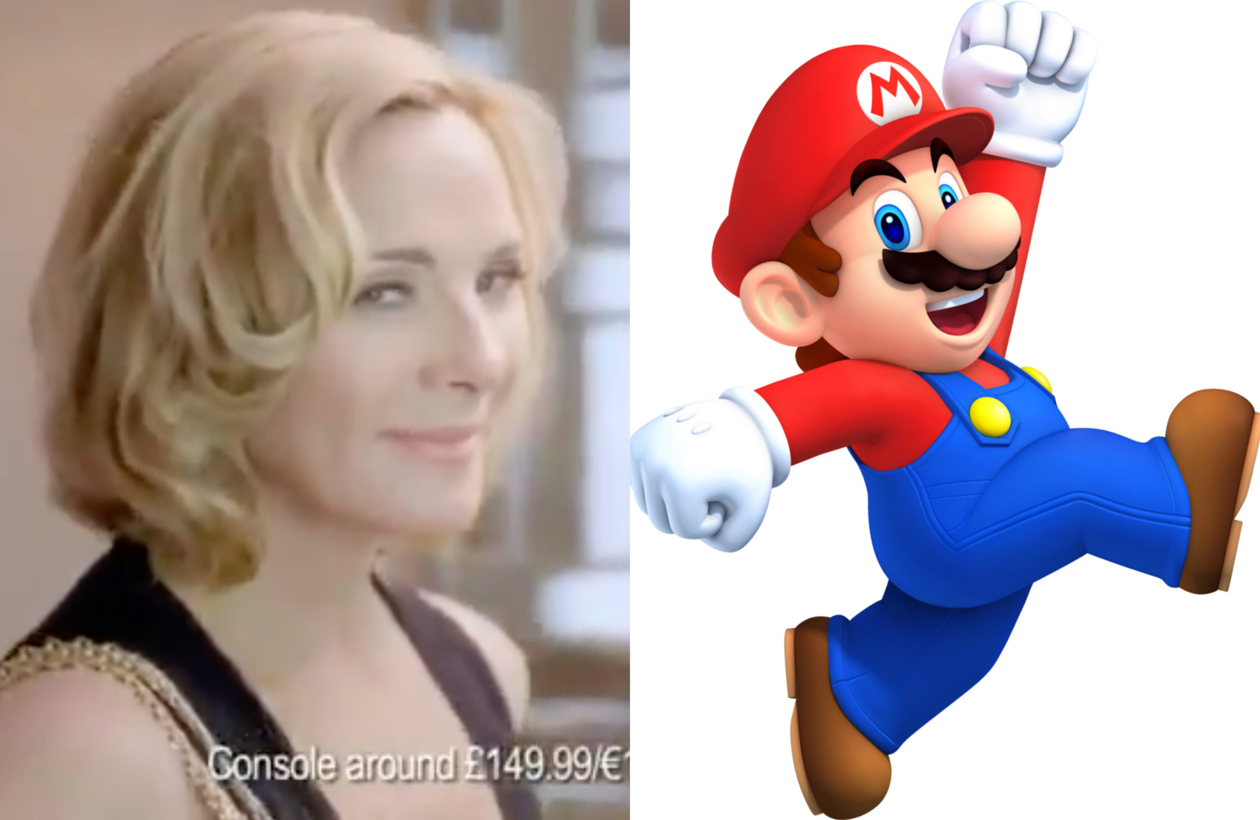 That feeling when: You find time for Mario. Kim Cattrall commented on a resurfaced Nintendo advert and things are getting kinda weird fast. (Screen capture via YouTube/Nintendo)