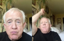 "Leslie Jordan danced to ""Rain On Me"", the new duet from Lady Gaga and Ariana Grande. (Screen captures via Instagram)"
