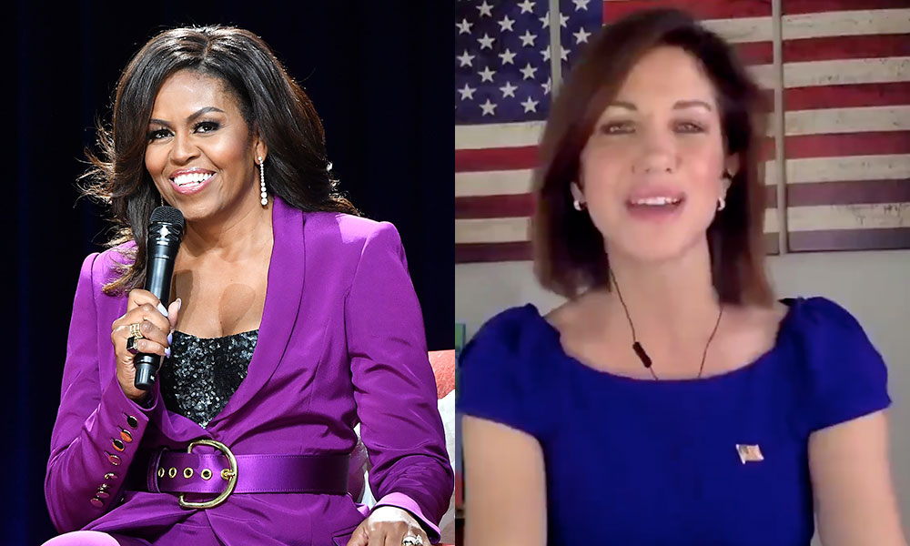 Michelle Obama and DeAnna Lorraine