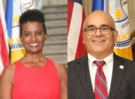 Trenton, New Jersey, councillor Robin Vaughn (L) and Trenton mayor Reed Gusciora – the city's first openly gay mayor. (Trenton New Jersey City Council file photographs)
