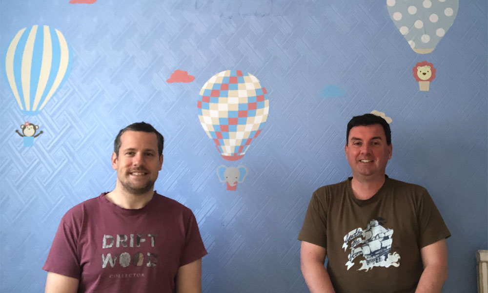 Ross and Chris Muller in their nursery