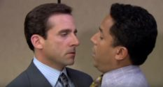 Steve Carell Oscar Nunez kiss The Office