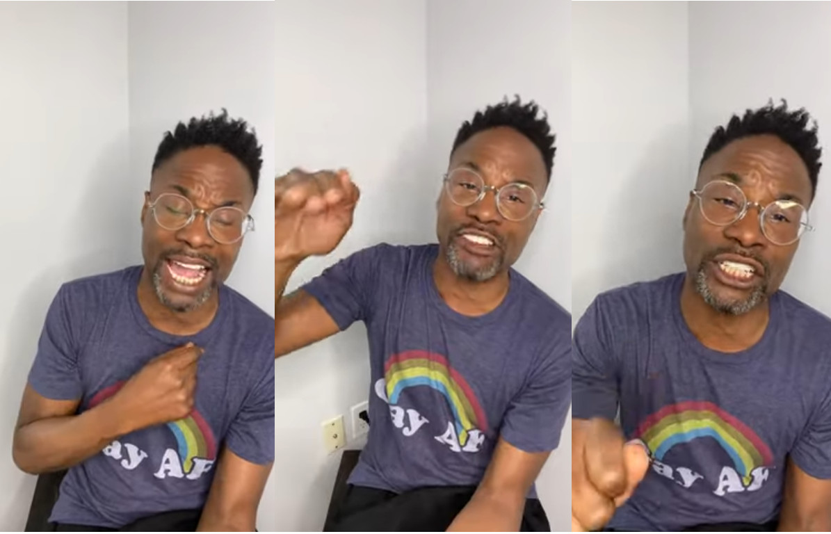 Billy Porter gives a passionate reminder that 'LGBT+ Black folks are Black people too and our lives matter'
