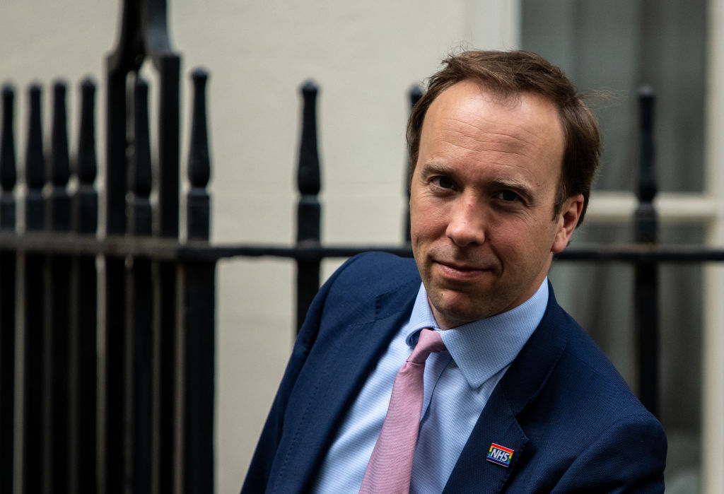 Matt Hancock, health secretary, leaves 10 Downing Street after the daily coronavirus briefing on May 26