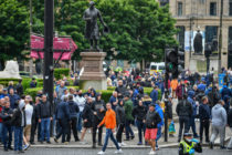 Robert Peel Glasgow's Robert Peel Statue Becomes Focal Point For Protests