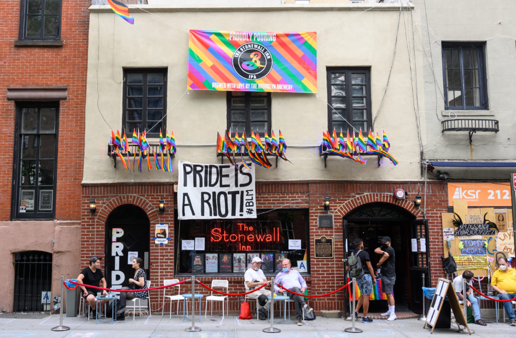 A view outside the Stonewall Inn on June 26, 2020 in New York City.