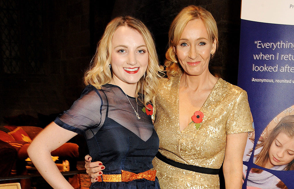 Evanna Lynch and JK Rowling attend a charity event on November 9, 2013