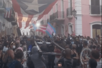 Hundreds of people packed the streets of Old San Juan, Puerto Rico, to join the Black Lives Matter protest. (Screen capture via Twitter)
