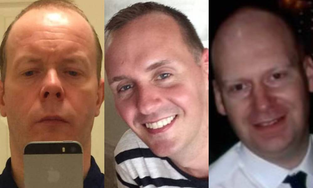 David Wails, Joe Ritchie-Bennett and James Furlong (L-R) have been named as the victims of the Reading terror attack.