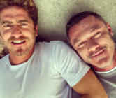 Luke Evans (R) and his boyfriend, Rafa Olarra. (Instagram)