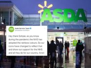 Asda initially claimed its rainbow-coloured logo was to show support for the British health service, stirring backlash. (Matthew Horwood/Getty Images)