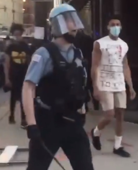The Chicago Police officer was caught on camera shouting a homophobic slur