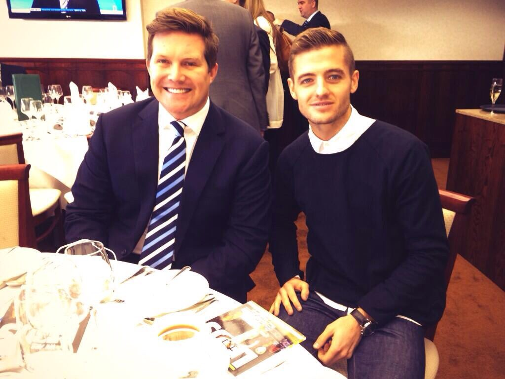 David Haigh with Robbie Rogers