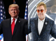Donald Trump, seemingly out-trumping himself, sought to send the supreme leader of North Korea a copy of Elton John's music. (Chip Somodevilla/Dimitrios Kambouris/Getty Images for EJAF)