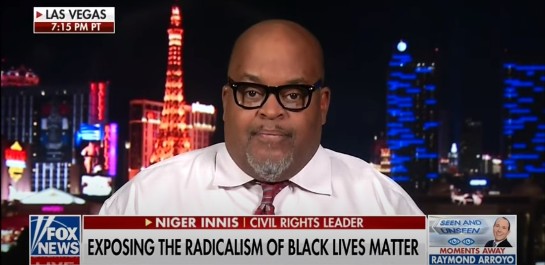 Black Voices for Trump activist Niger Innis was appearing on The Ingraham Angle