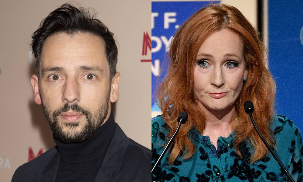 Ralf Little and JK Rowling