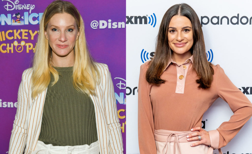 Heather Morris (L) is the latest former Glee actor to lit into Lea Michele. (Rodin Eckenroth/Getty Images/Roy Rochlin/Getty Images)