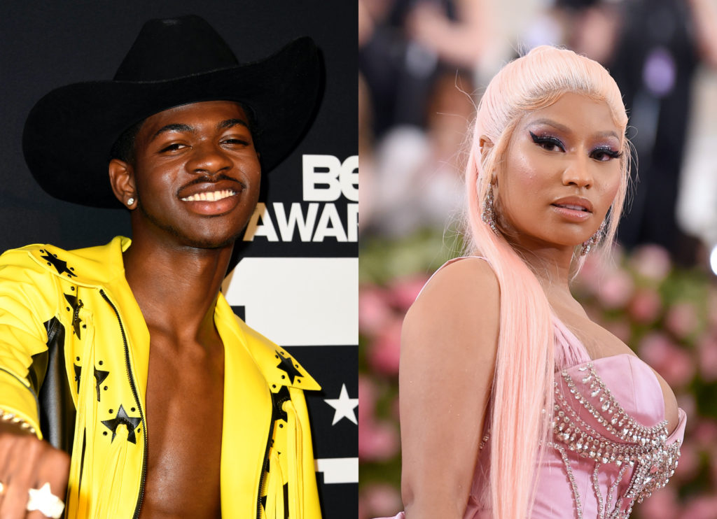 Lil Nas X revealed that he used to run a Nicki Minaj fan account on Twitter. (Frazer Harrison/Jamie McCarthy/Getty Images)