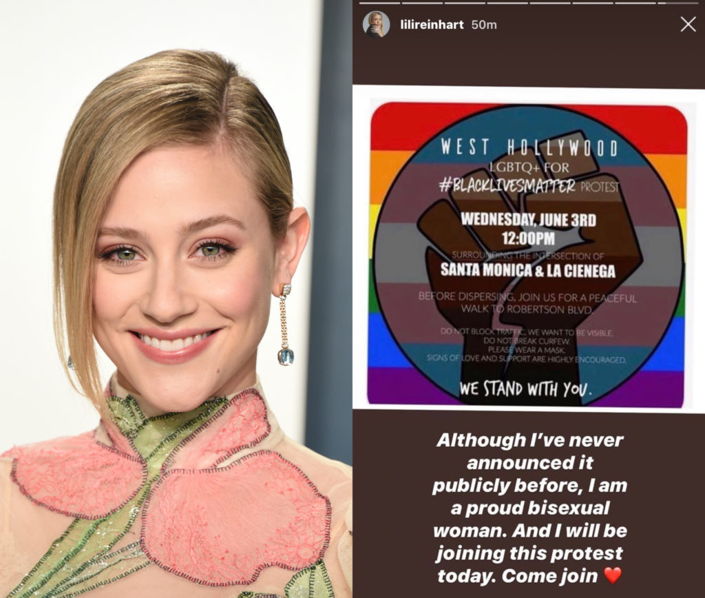 'Riverdale' star Lili Reinhart comes out as bisexual