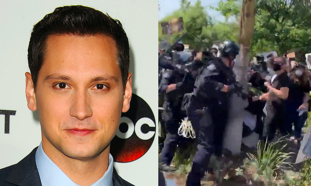 Matt McGorry shared shocking video footage of police officers beating protesters in LA.