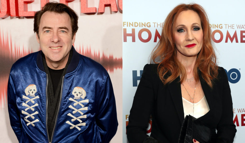 Jonathan Ross (L) has backed JK Rowling amid a torrent of criticism for the author tweets on trans lives. (Dave J Hogan/Dave J Hogan/Getty Images/Tayfun Coskun/Anadolu Agency via Getty Images)