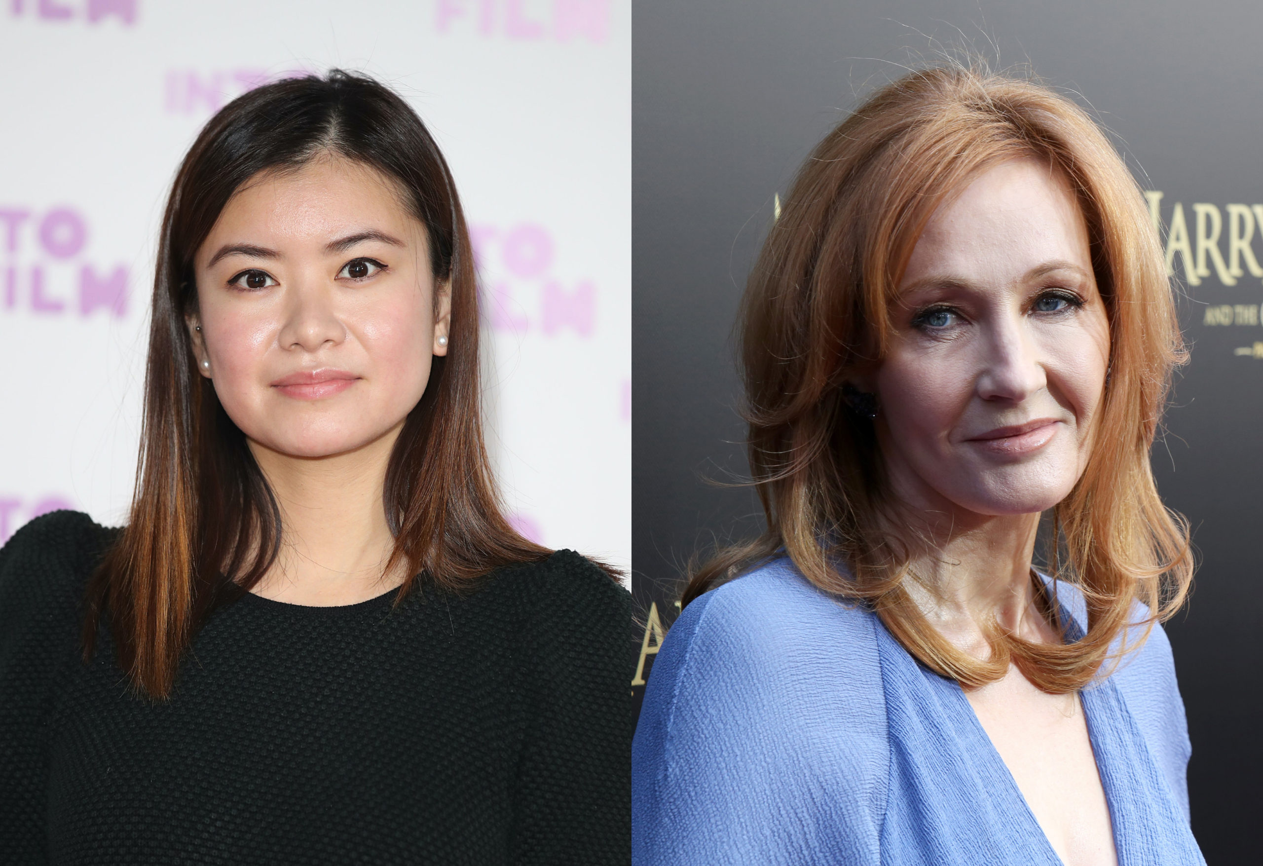 Katie Leung (L) has reacted to the firestorm caused by JK Rowling's comments on the trans community. (Mike Marsland/Mike Marsland/WireImage/Getty)