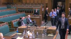MPs are required to walk the length of the Commons chamber - and we have definitely seen that somewhere before.