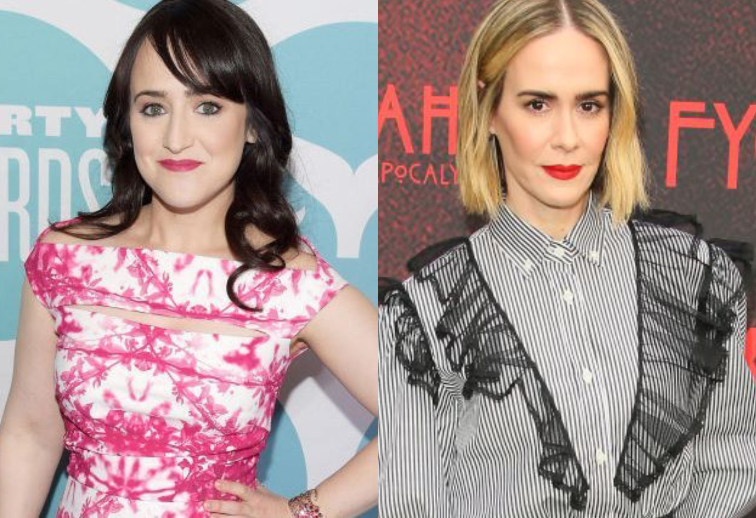 Mara Wilson (L) and Sarah Paulson were one of countless cis women criticising JK Rowling. (Jason Kempin/Getty Images for Shorty Awards/Jean Baptiste Lacroix/Getty Images)
