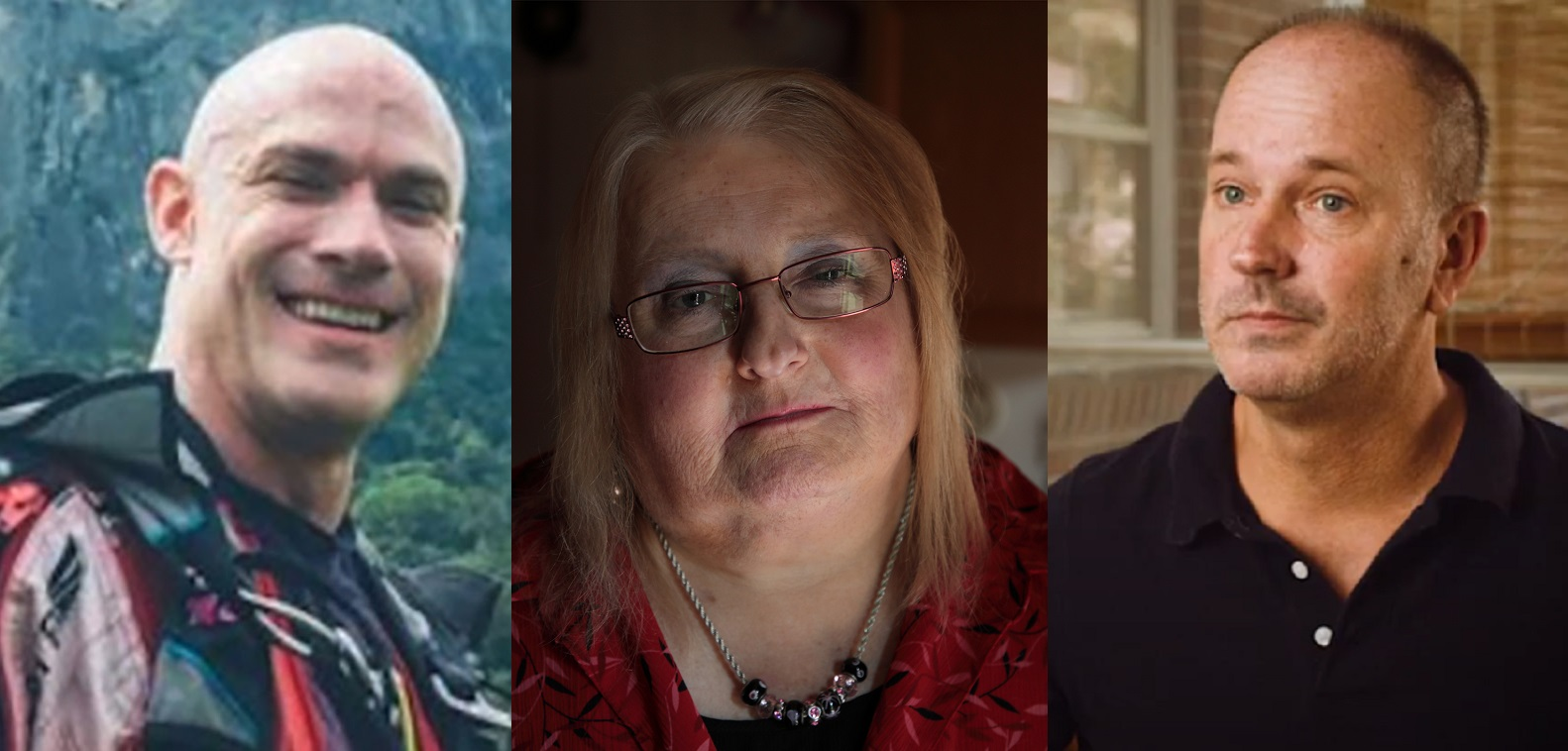 Donald Zarda, Aimee Stephens and Gerald Bostock (L-R) have helped secure LGBT+ rights for millions
