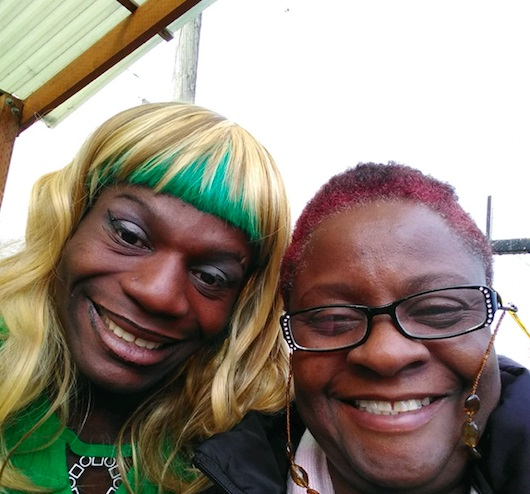 Tete Gulley, a trans woman who was found hanged in a park in Portland, with her mother Kenya Robinson