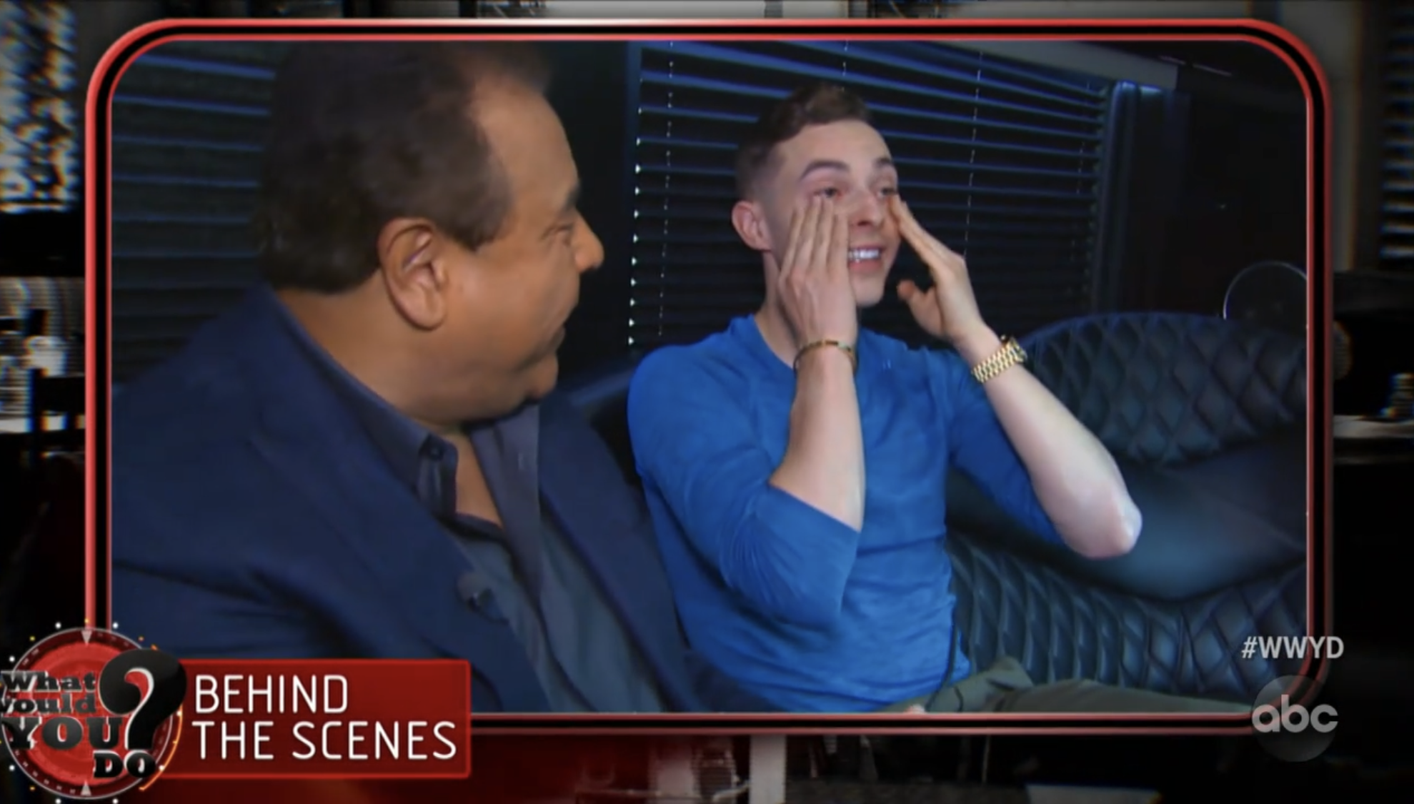 Adam Rippon was moved to tears during the segment